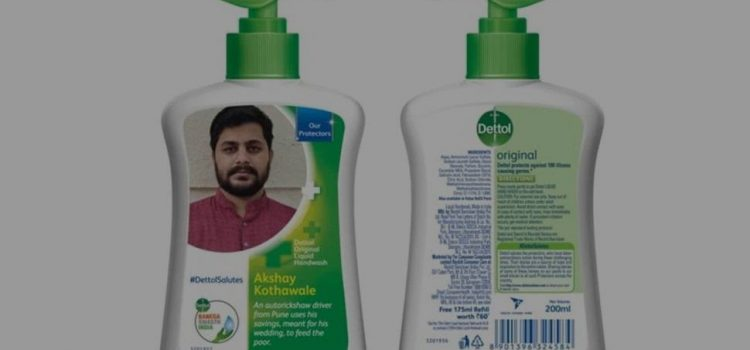 """Dettol Labels used to salute """"Covid Warriors""""!"""